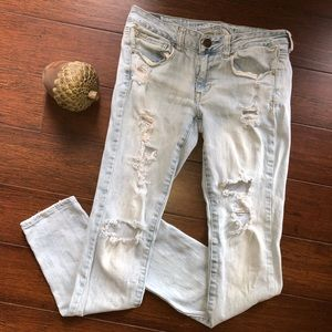 American Eagle Destroyed Skinny Jeans